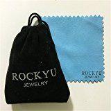 #10: Rockyu ジュエリー 人気 ブランド ステンレス 結婚指輪 リング レディース シンプル ブラック 華奢 指輪 15号