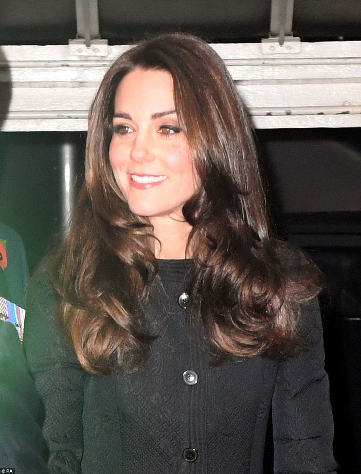 The Duchess of Cambridge arrives at the annual Royal Festival of Remembrance at the Royal Albert Hall in London