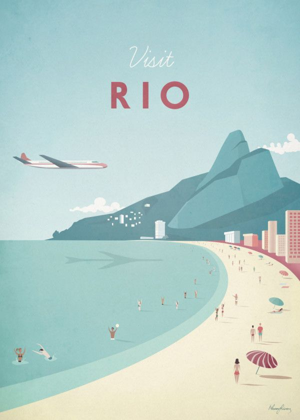 Rio Travel Poster Print Metal Posters Travel Posters Vintage