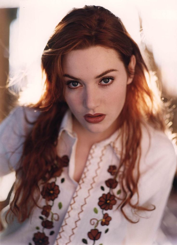Kate Winslet 1990s young red hair Rose Dawson Marianne Dashwood era
