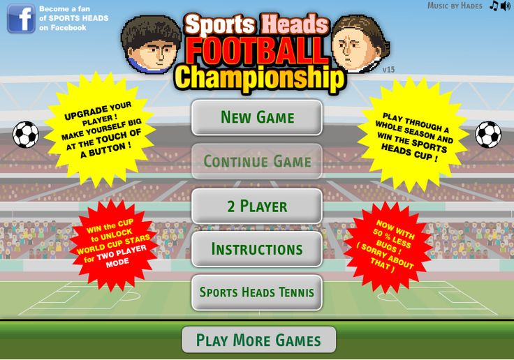 The most popular big head football game of chappionship version. Sports heads football.