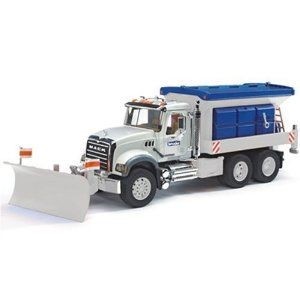 2 feet long scale toy model of Mack Granite Snow Plow truck