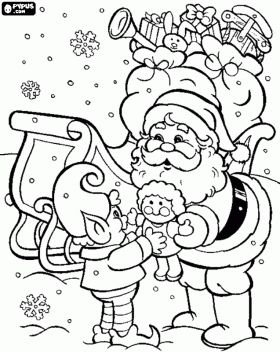 elf yourself coloring pages - photo#30