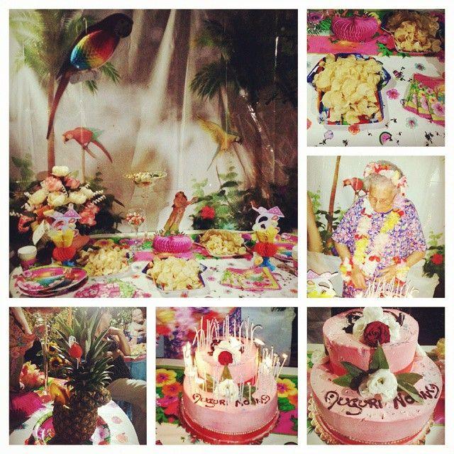 Festa hawaiana per i suoi primi 90 anni #foodiamo #90anni #nonna #dessert #food #desserts #torta #patatine #cocktail #yum #yummy #amazing #instagood #instafood #sweet #chocolate #cake #icecream #dessertporn #delish #foods #delicious #tasty #eat #eating #hungry #foodpics