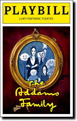Playbill Cover for The Addams Family at Lunt-Fontanne Theatre 2010-2011