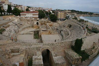 Tarragona, ancient Roman ruins in Spain