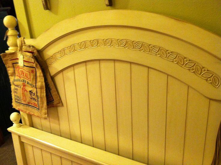 Chalk painted headboard footboard dream bedroom for Curious george bedroom ideas
