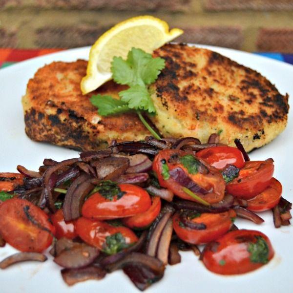 Salmon Fishcake with Warm Tomato Balsamic Salad Recipe #FluffyMarisPiper | Lilinha Angel's World - UK Parenting Lifestyle Blog