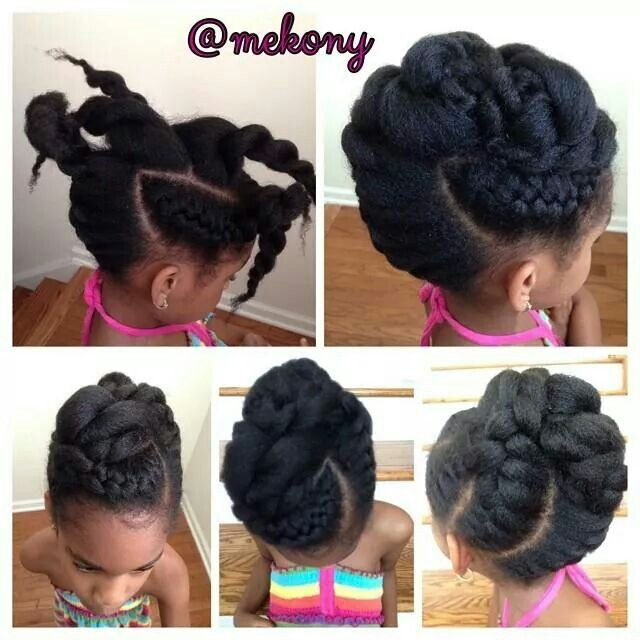Updo Go to www.naturalhairki... to see more tips, posts and pics like this! | natural hair | protective styles | detangling | natural hair kids | hair care tips | natural hair information | locs | natural hair inspiration | ponytails | braids | beads | caring for natural hair | natural hair tip | natural hairstyles for kids | children's hair | moisturizing hair