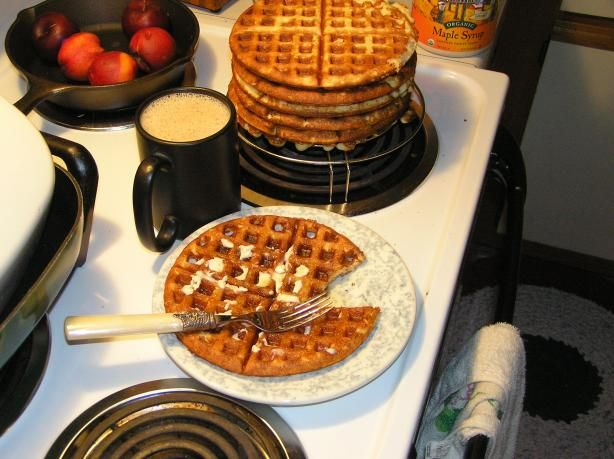 Gluten Free Waffles. These are delicious! I added vanilla and they smelled like waffle cones while cooking! I had to add some extra rice flour to get the right consistency. the batter should be pretty runny but not quite like water.