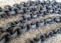 Easy (foam pipe insulation) Halloween chain. Less than 10 bucks to create!