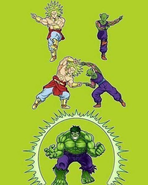 Broly and Piccolo fusion = the Hulk