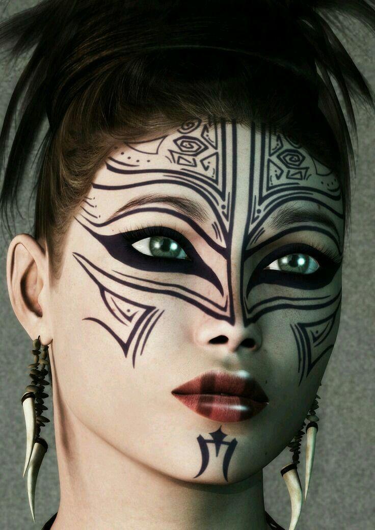 Maquillage, Masking, Peintures Pour Le Visage Tribales, Designs De  Peinture De Visage, Peinture Corporelle, Art De La Peinture, Maquillage  Tribal