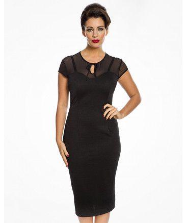 55d656ebe0f Esmerelda  Sultry Film Noir Inspired Black Wiggle Dress in 2019 ...