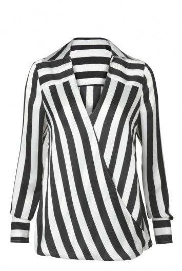 Stripe Wrap Shirt for Tall Women | Long Tall Sally USA $89