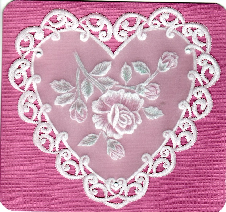 Cutwork Heart and Rose ... Made by Me