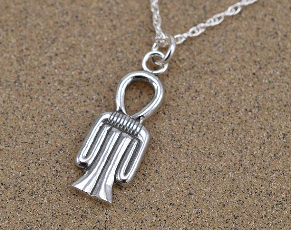 (Sadie Kane) Tyet Amulet Pendant Necklace  Sterling Silver by SilverspotStudio, $37.50