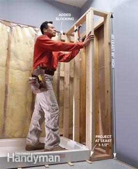 plumb u0026 install a shower base