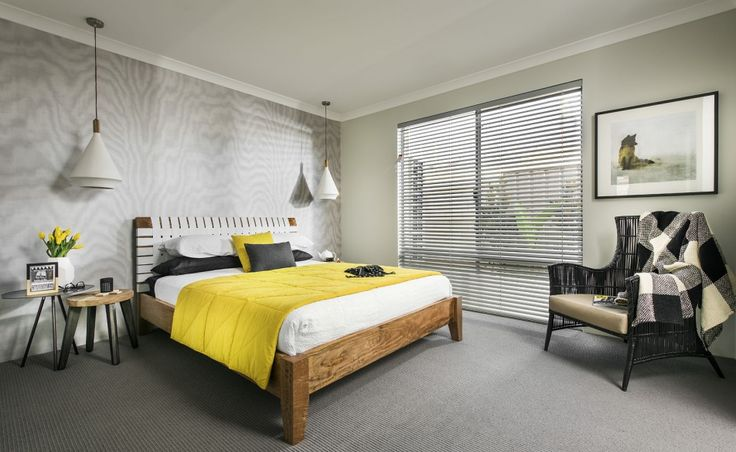 Central master suite with 'His' and 'Her' walk in robes