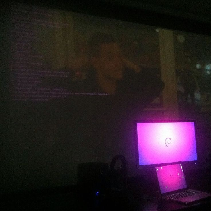 Something we loved from Instagram! Nice projected #terminal over #mrrobot about to #decrypt 1400 #md5 #hashes. No more white walls... #kalilinux #node #npm #javascript #osx #elcapitan #debian #raspberrypi by pinealglandrx Check us out http://bit.ly/1KyLetq
