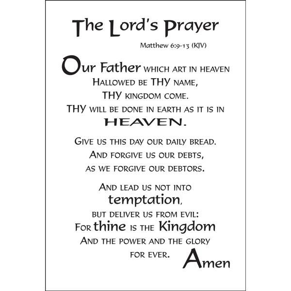 It's just a graphic of Breathtaking Printable Lords Prayer