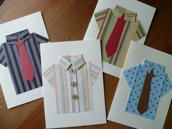 Fathers Day Shirt Cards  Handmade with by TheTroveShoppe on Etsy, $2.00