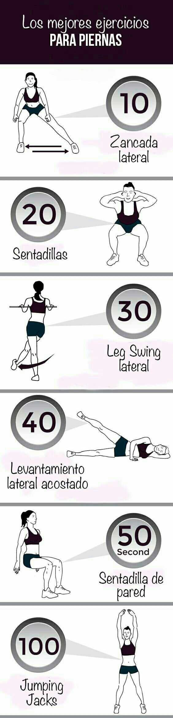 Tonifica tus #piernas con estos #ejercicios que te harán ganar masa muscular. #EjerciciosParaPiernas #EjerciciosEnCasa #TonificarPiernas #EjerciciosPasoAPaso #BajarDePeso