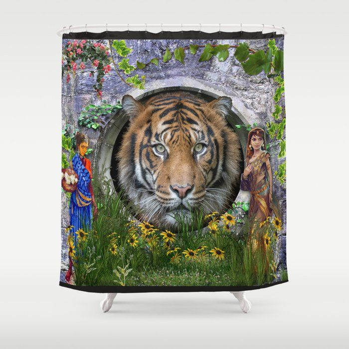 A Wildlife Bengal Tiger Shower Curtain By Justkidding