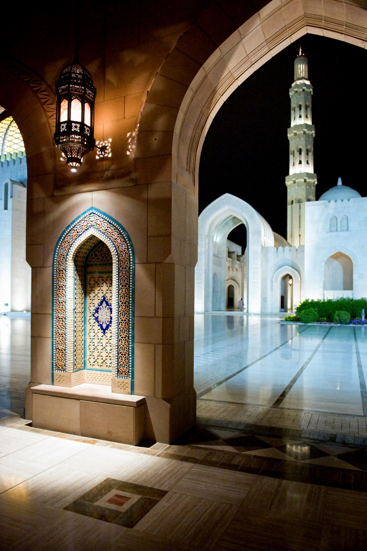 Sultan Qaboos Grand Mosque, Muscat. view on Fb https://www.facebook.com/OmanPocketGuide credit: Oman Tourism #oman