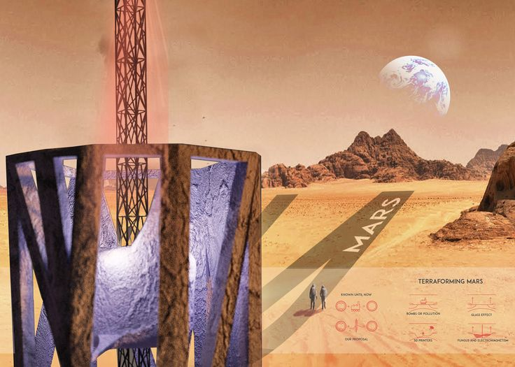Spanish architect Alberto Villanueva's Mars Utopia concept could see the planet transformed into an inhabitable environment using bacterially-formed towers