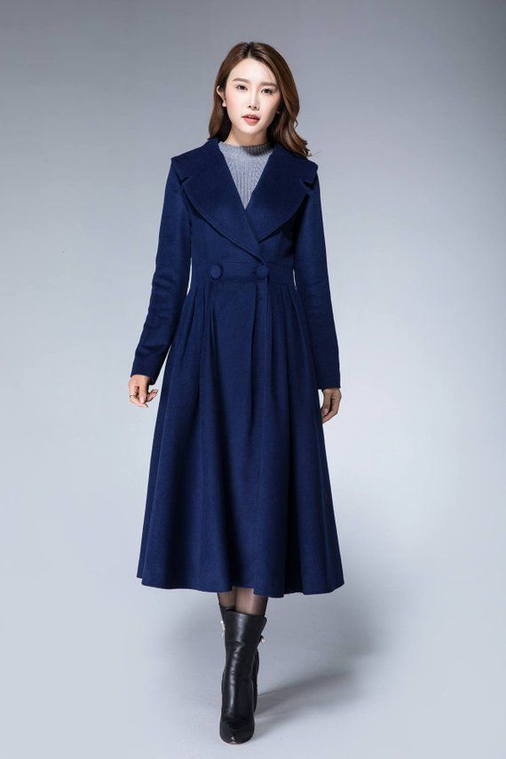 16b515db04c2c Princess coat long jacket red coat pleated coat elegant