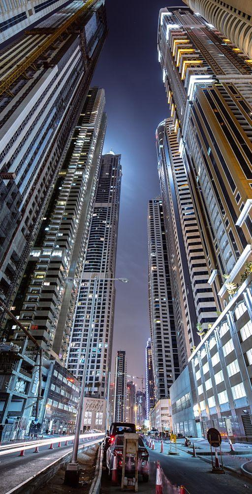 Dubai Marina located in Dubai UAE Dubai
