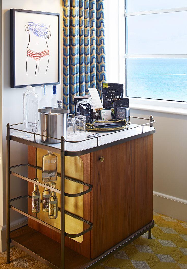 Guest Room bar cart  - Thompson Miami Beach | 1stdibs Introspective