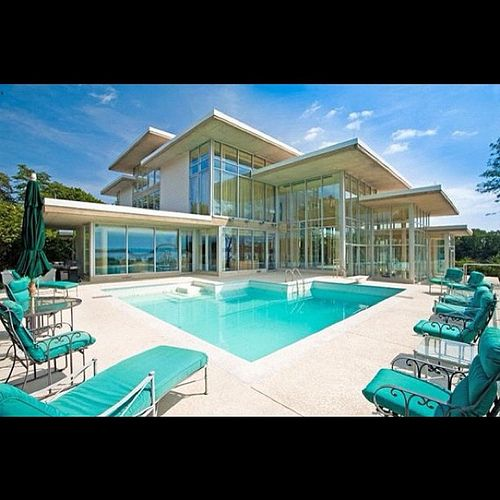 Mansion Houses With Pools: My Future #house #crib #mansion #glass #pool #water #big