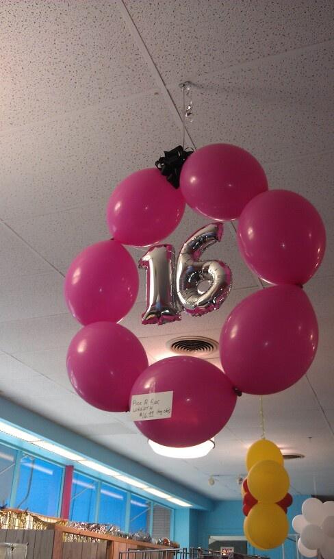 Sweet 16 Balloon Wreath
