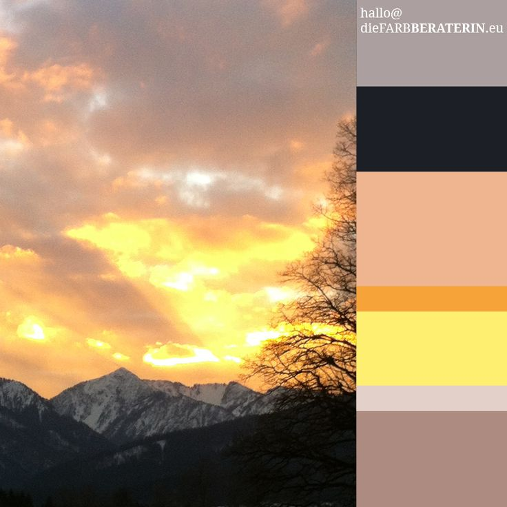 #farbinspiration #alpen #himmel #sonnenuntergang #alpenglühen #bayern #farbpalette #farbprofil #farbharmonie #farbe #quantität #proportion #farbberatung #diefarbberaterin  #lilagrau #anthrazit #pfirsich #apricot #rosa #orange #gelb #warmgrau #malvengrau  #color #palette #scheme #inspiration #alpine #sky #sundown #alps #bavaria #colour #consutlant  #lilacgrey #warm #grey #charcoal #pink #peach #orange #yellow #mauve  www.diefarbberaterin.eu