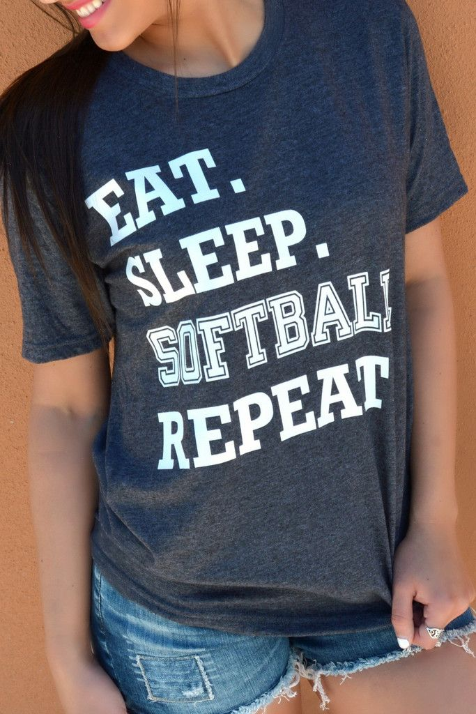 Eat. Sleep. Softball. Repeat. Tee More