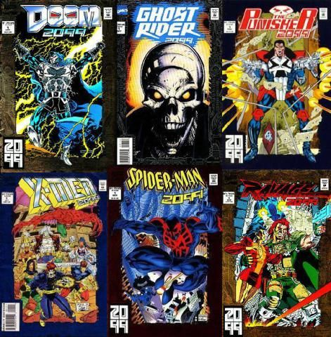 Universo Marvel 2099 #Doom2099 #GhostRider2099 #ThePunisher2099 #XMen2099 #SpiderMan2099 #Ravage2099 #Marvel #MarvelComics #Comics #Quadrinhos  #PipocaComBacon @pipoca_combacon http://pipocacombacon.wordpress.com/