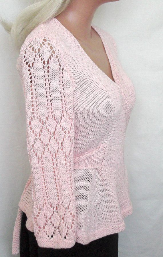 Romantic  Knit Jacket  Soft  Sheer Cardigan by GalinaHandmade, $86.00