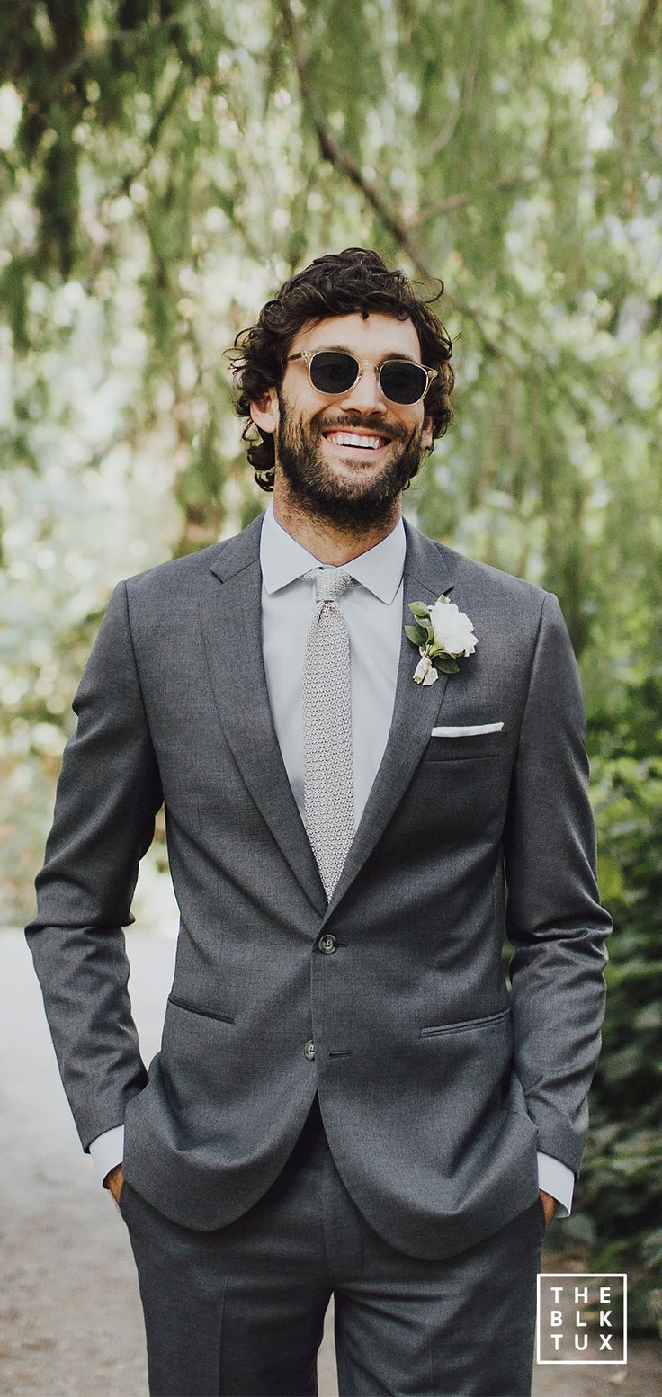 the black tux 2017 online tuxedo rental service grey gray charcoal suit casual wedding dress style inspiration -- Suit Up in Style, The Black Tux Way