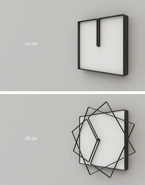 "A clock that is constantly changing designs!! AWESOME!!! ""What time is it?"" ""Uh, I dunno, squactagon-thirty?"""