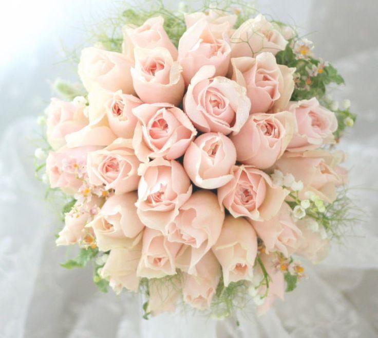 ブーケ アームブーケ ドリーミーピンクとトロワラス : 一会 ウエディングの花