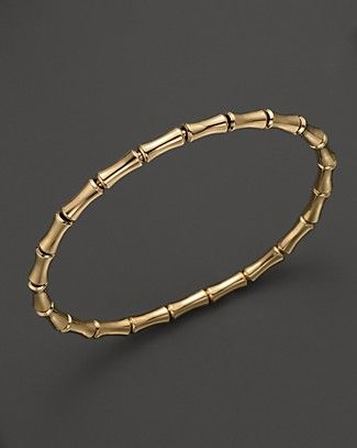 Gucci 18k Yellow Gold Bamboo Bangle | Bloomingdale's