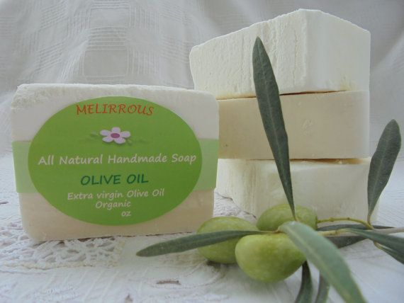 Olive Oil Soap  100% Greek Extra Virgin Olive Oil by MelirrousBees