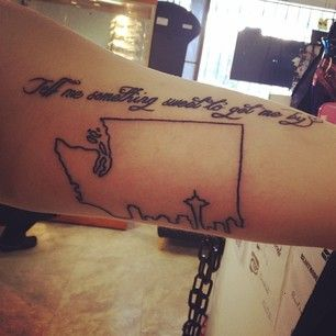 Washington | 50 Awesome State Tattoos That Will Fill You With Hometown Pride