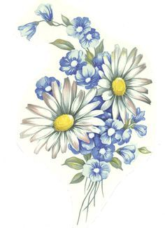 small wild flower boquet drawing - Google Search