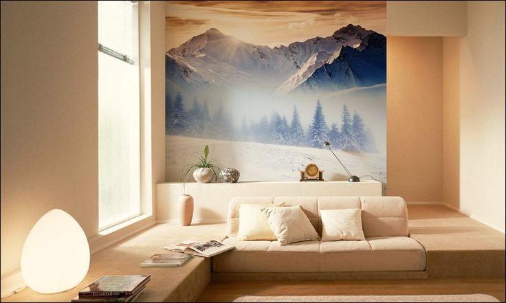 Настенные фрески на зимнюю тему