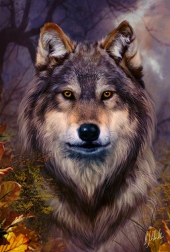 Wolf Poster Print by Bente Schlick*                                                                                                                                                     Mais