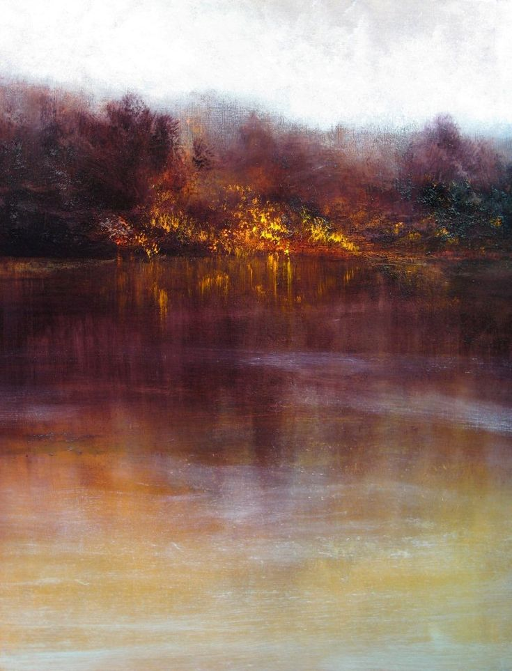 "MARUICE SAPIRO - ""Autumn Morning""...oh I have seen many a morning like this and never been able to capture it this way..."