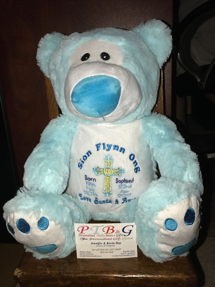 Ready for the Christening. Personalised Teddy Bears & Gifts  www.teddybearsandgifts.com.au